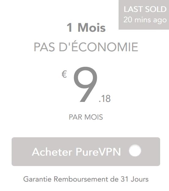 purevpn prix