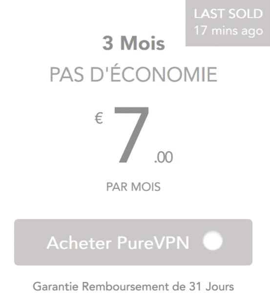 prix pureVpn