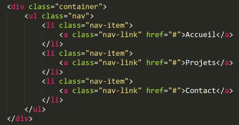Bootstrap 4: Apprendre a créer un menu de navigation (part1
