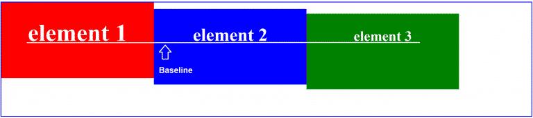 align-items: baseline;