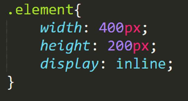 display inline