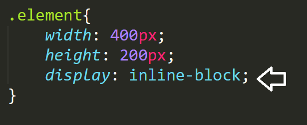 display inline-block