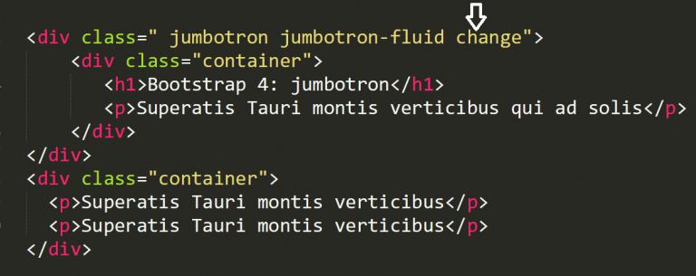 Jumbotron-fluid bootstrap 4