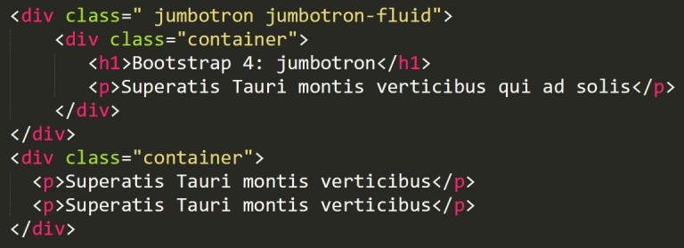 Bootstrap 4 jumbotron-fluid
