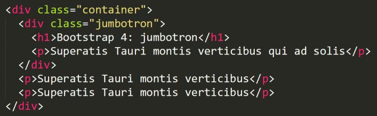 Bootstrap 4 jumbotron
