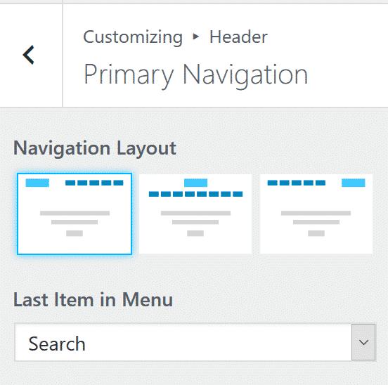 themeisle Neve navigation